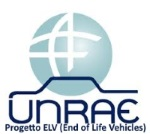 progetto UNRAE-ELV End of Life Vehicles