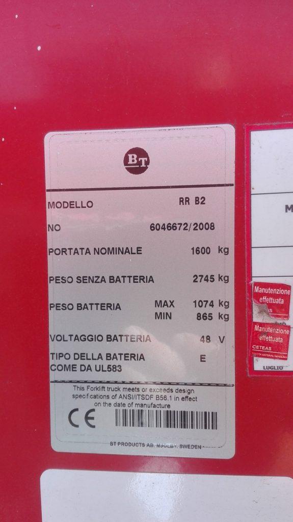 Muletto BT RR B2 cabinato usato (2)