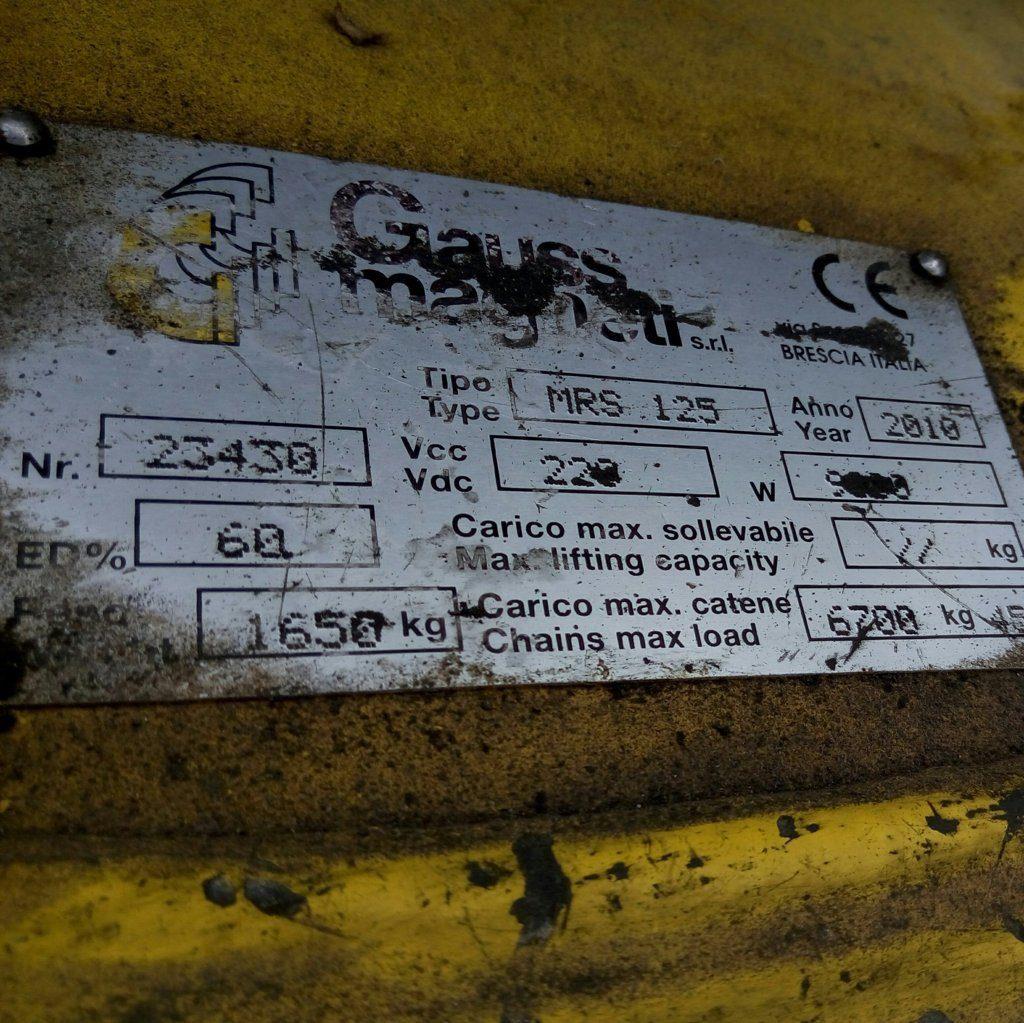 elettrocalamita – calamita da sollevamento usata (2)