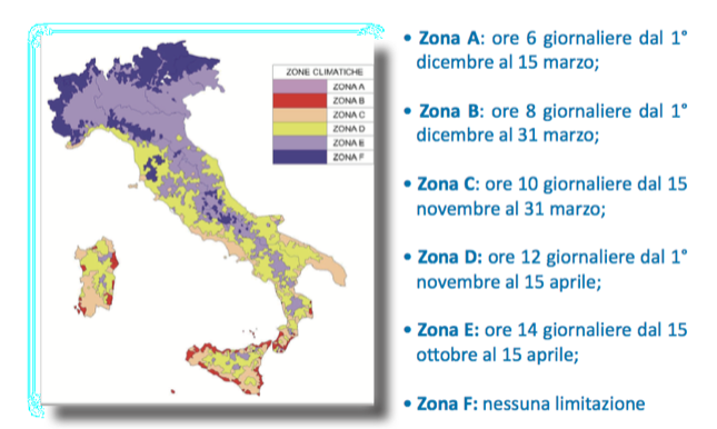 Tabella Guida ENEA 2017 | fasce climatiche Italia | normativa riscaldamento