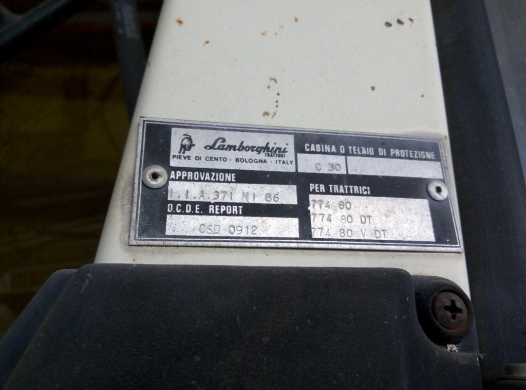 Trattore Lamborghini 2 con motore nuovo (9)