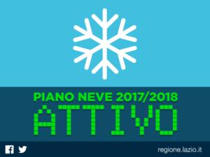 Piano neve 2017-18 Regione Lazio | Protezione Civile | emergenza gelo