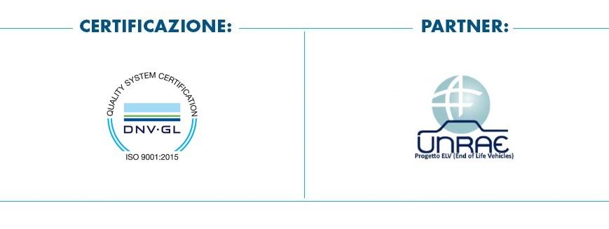 Box certificazione 9001:2015 | Partner progetto ELV-UNRAE