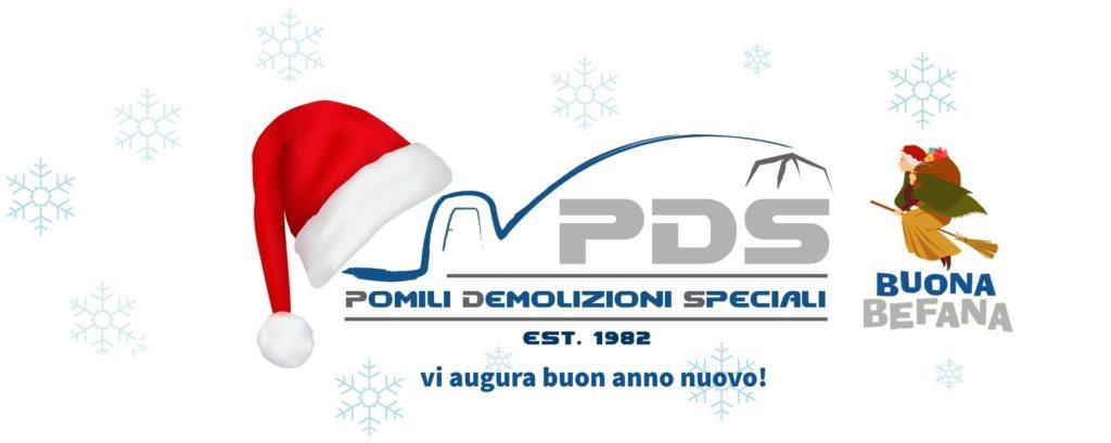 Buone festa e buona Befana da parte di Pomili Demolizioni Speciali Srl