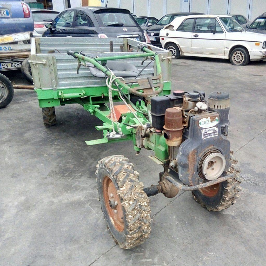 trattore motocoltivatore Lombardini con carrello (3)