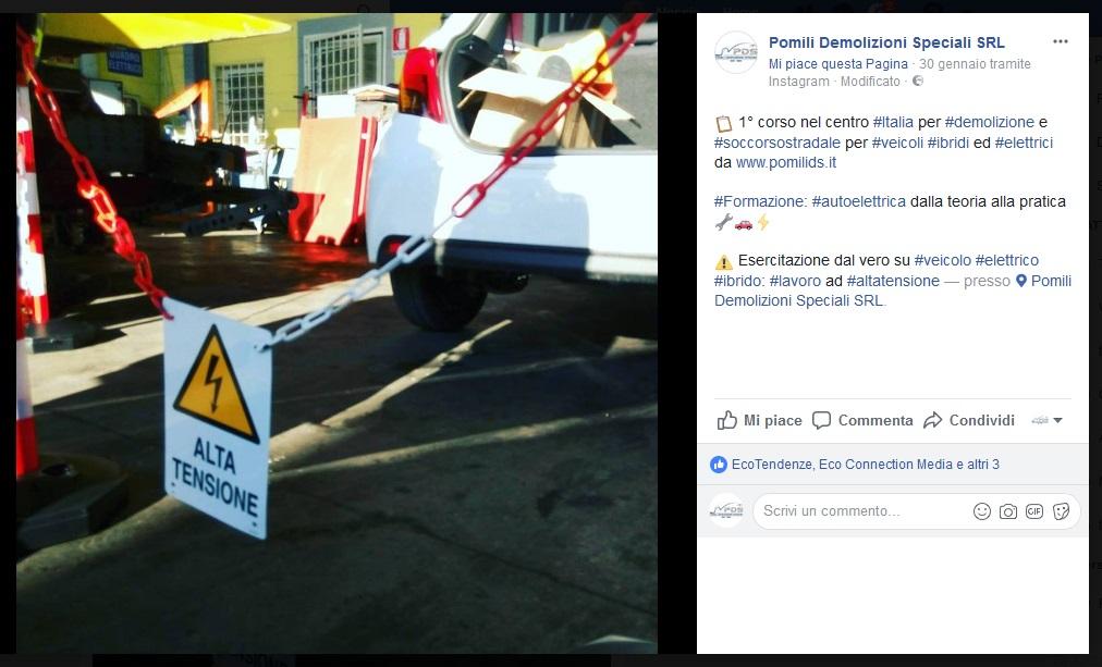 Pomili Demolizioni Speciali srl è autodemolitore specializzato per veicoli elettrici e ibridi | certificazione AVEI | Pomilids