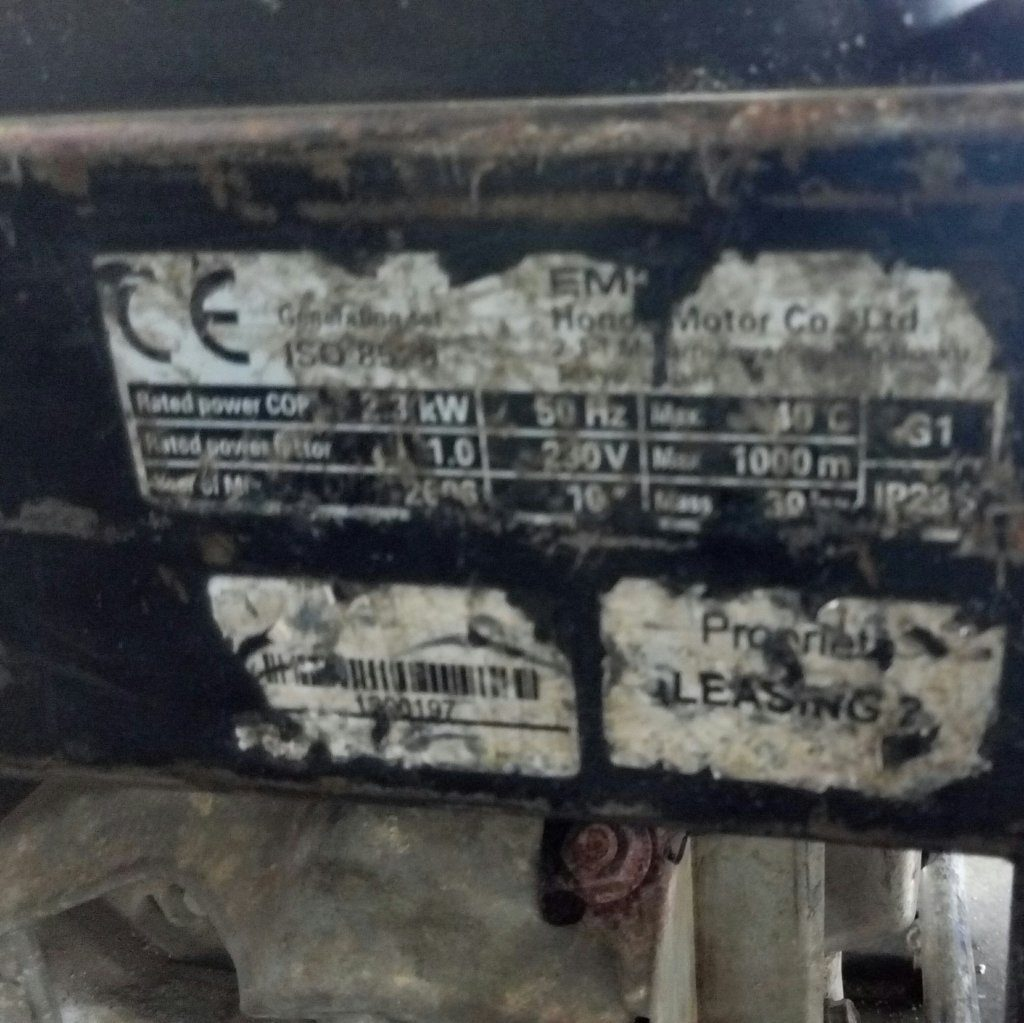 Gruppo elettrogeno EM25 Honda – Generatore usato – Pomilids (5)