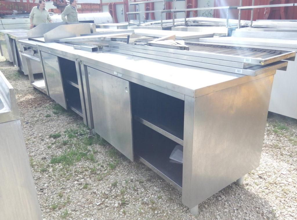 Piano da lavoro in acciaio inox