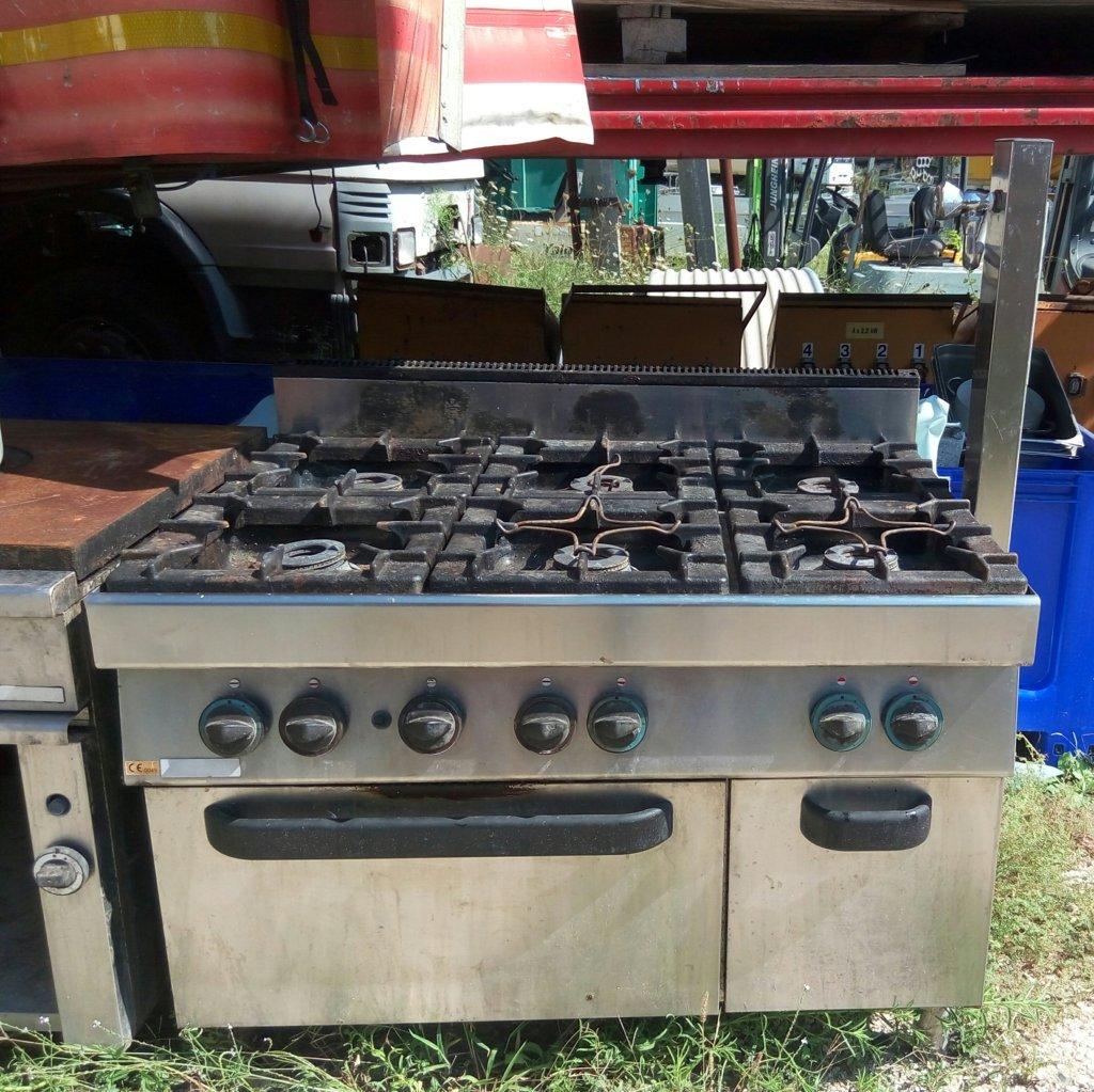 Cucina industriale usata 6 fuochi in acciaio inox - Cucina in acciaio inox ...