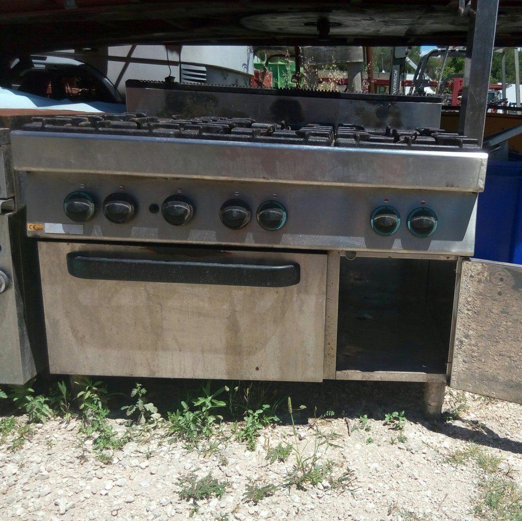 Cucina industriale usata (6 fuochi) in acciaio inox