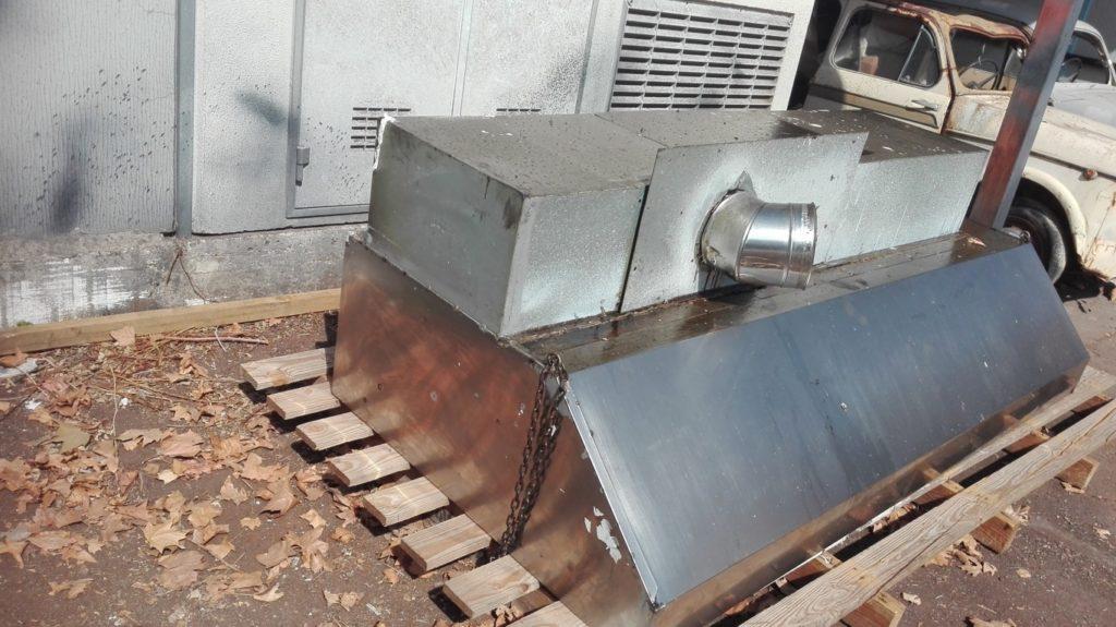 Cappa da muro in acciaio inox (2)