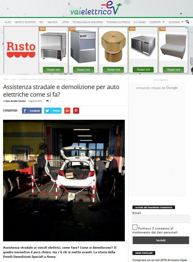 Vaielettrico.it | Assistenza e demolizione per Veicoli Elettrici | Pomilids