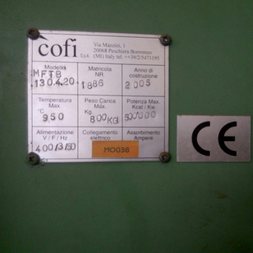 Forno industriale Cofi con impianto di ventilazione Moro – usato Pomilids (5)