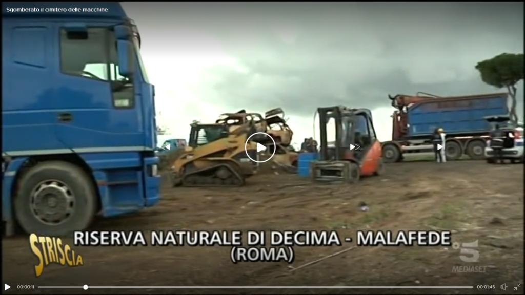 Servizio di bonifica e messa in sicurezza di un sito contaminato all'interno di un'rea verde di Roma Capitale | Stop rottami nella Riserva Naturale di Decima Malafede | Pomilids naturalmente soluzioni
