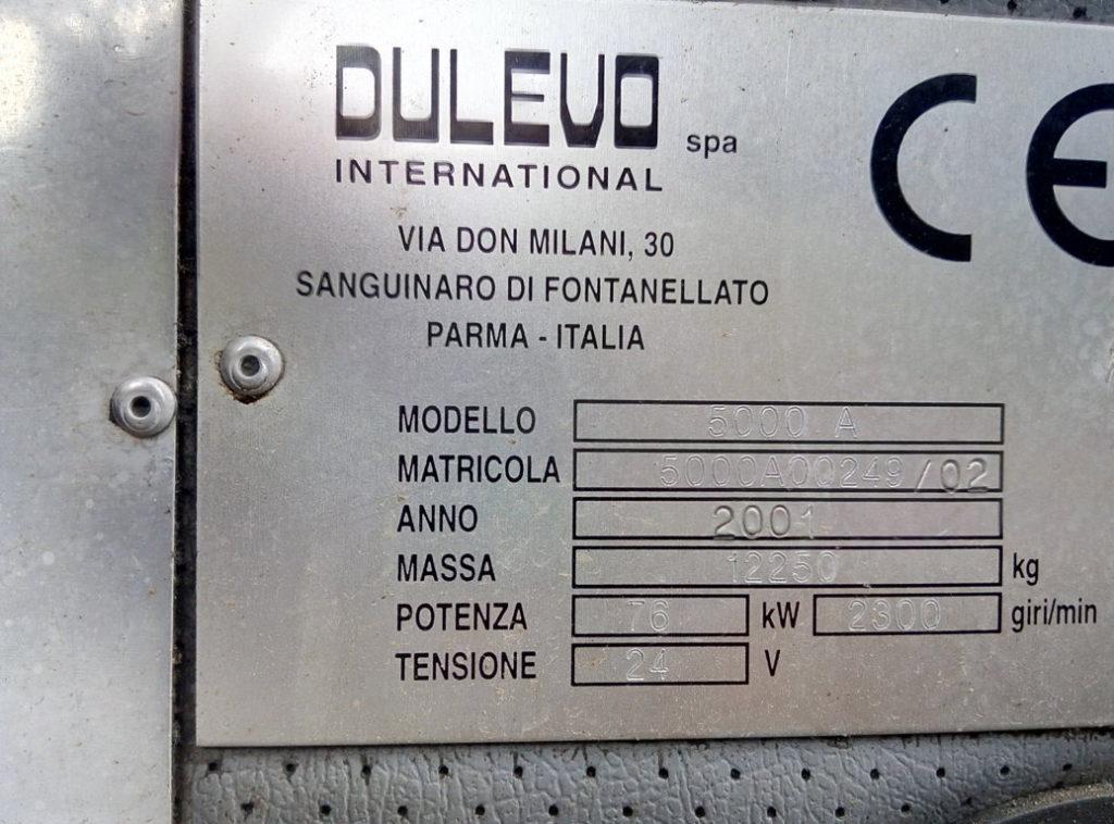 Spazzatrice Dulevo 5000A per ricambi (3)