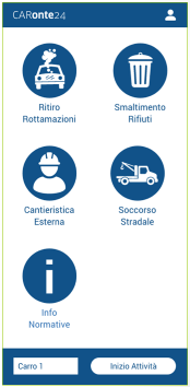 CARonte24 | Screenshot APP mobile servizi ambientali