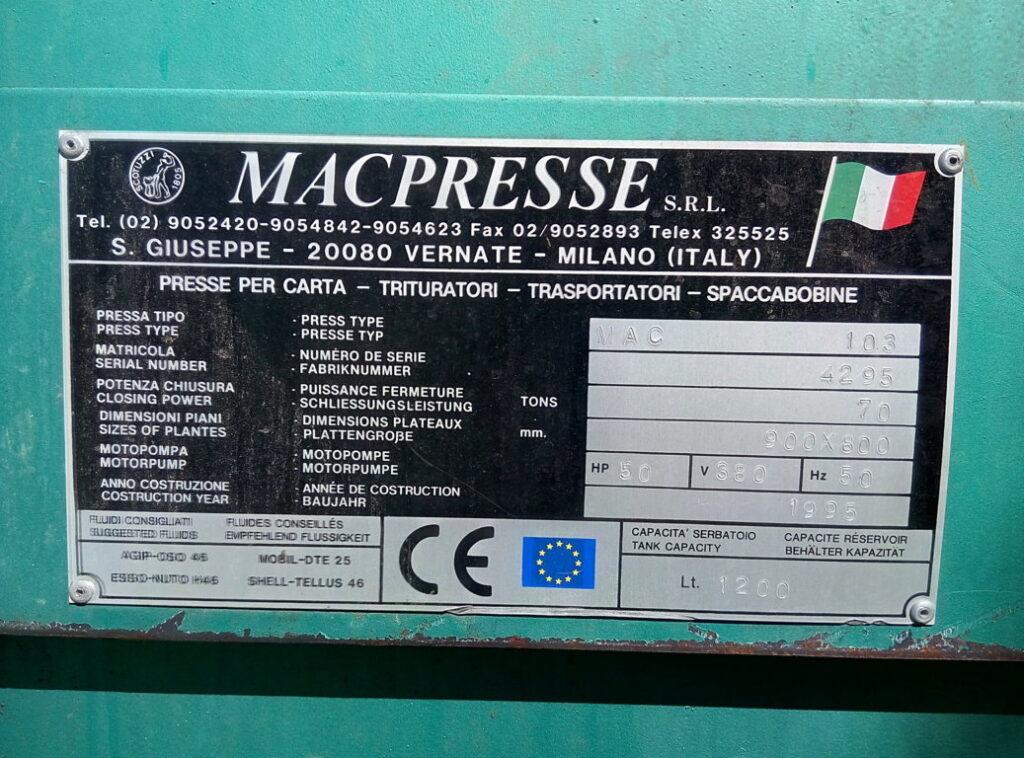 Pressa Mac103 – Macpresse
