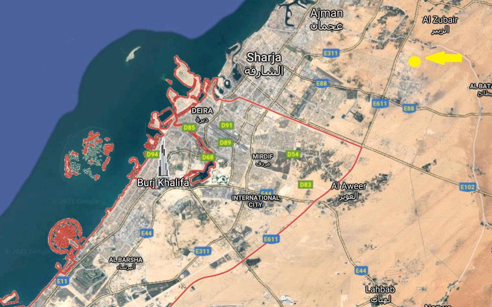 Mappa Dubai - Sharja - Alsajaa Industrial