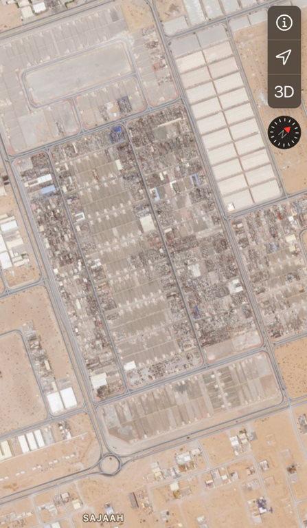 mappa lotti autodemolitori Dubai (Emirati Arabi Uniti)