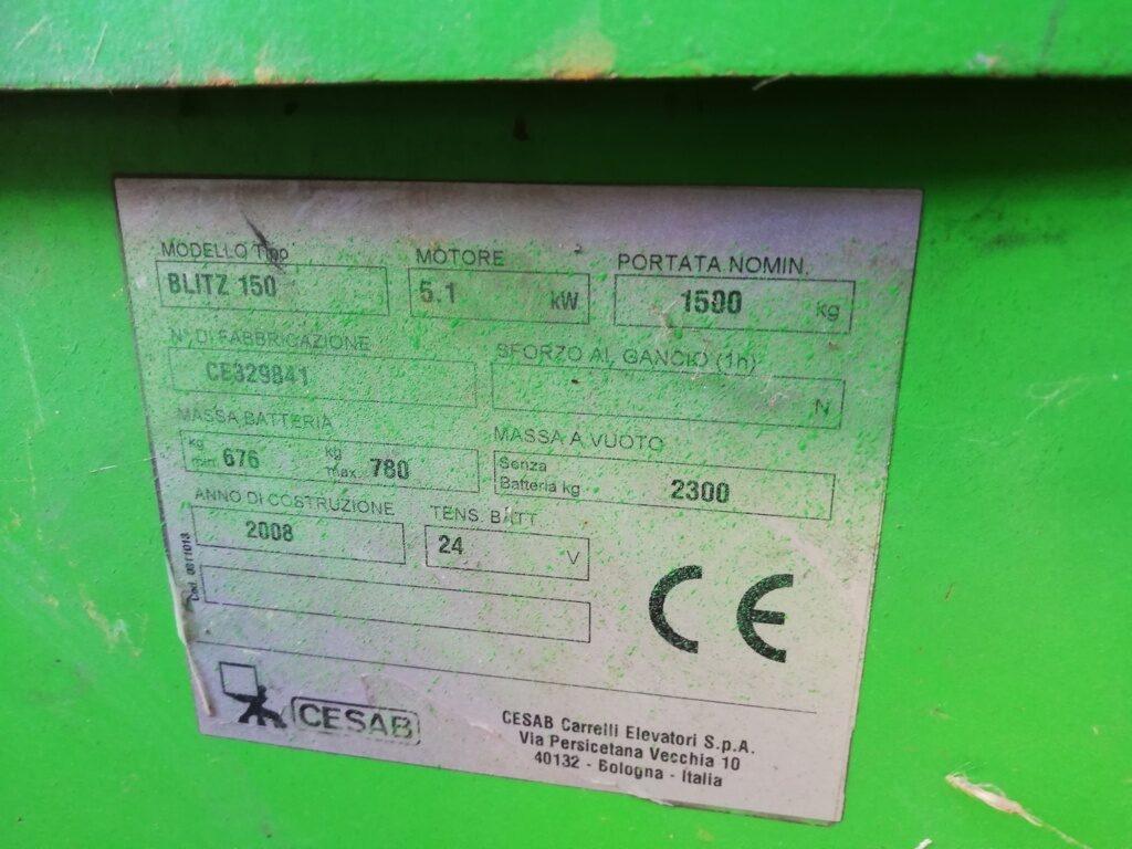 Carrello elevatore Cesab Blitz 150 (2)