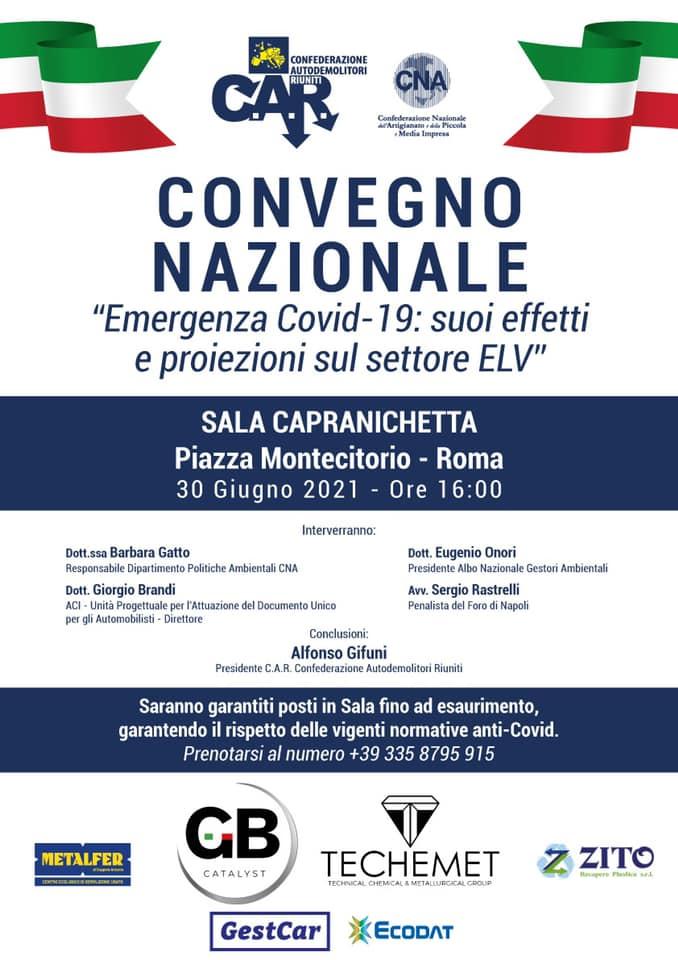 Convegno nazionale CAR - Covid19 ELV