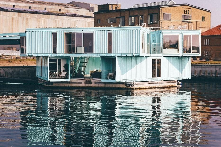 Abitazione realizzata con container usati