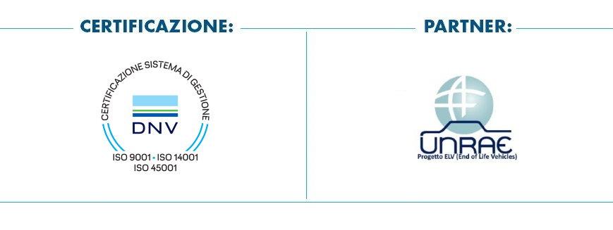Pomili Demolizioni Speciali srl adotta il Sistema di Gestione certificata ISO 9001 - 14001 - 45001 ed è partner UNRAE