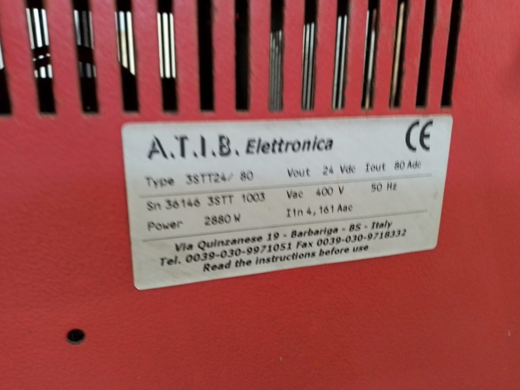 Carica batterie atib 3stt24/80 v24 a80 kwh 2.88